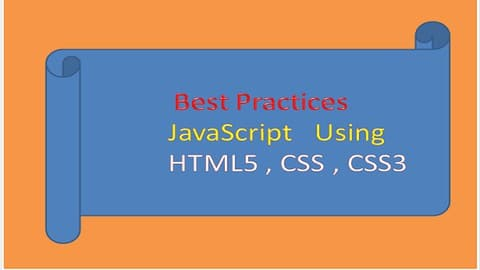 Javascript Certification practice using HTML5 , HTML, CSS3